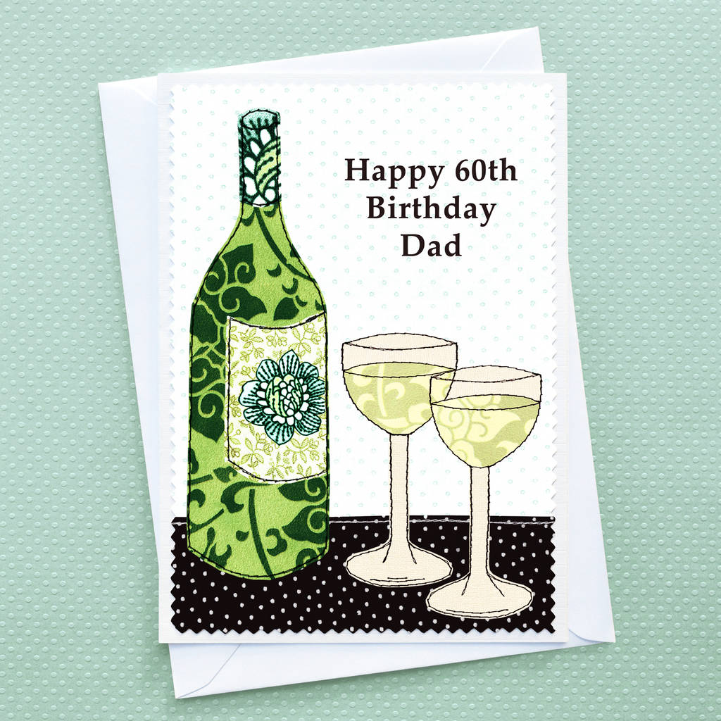 'wine' Personalised Birthday Card By Jenny Arnott Cards