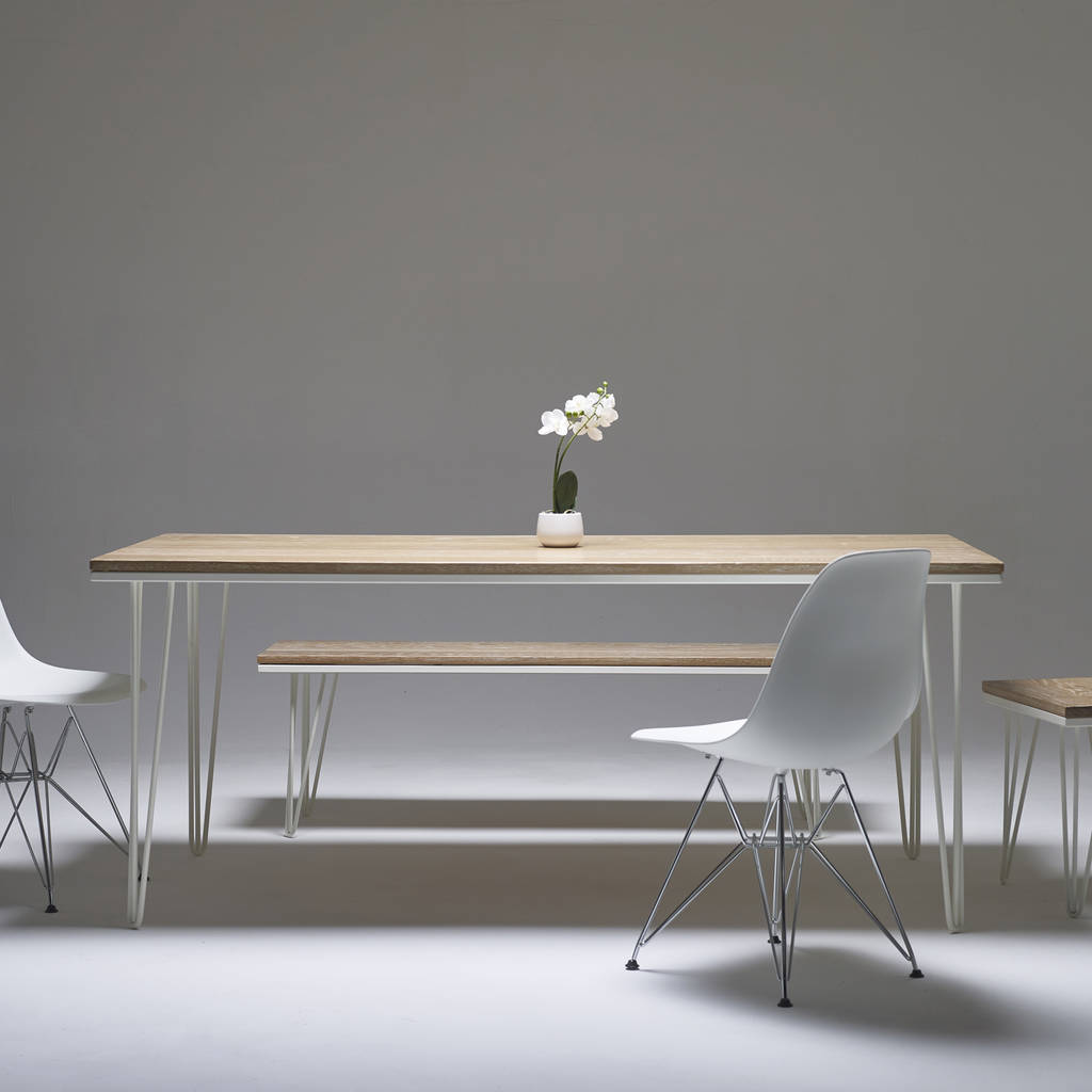 white washed oak dining table and chairs red accent chair whitewashed with choice of steel legs by wicked