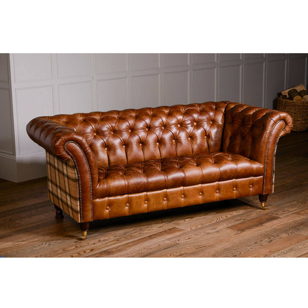 chesterfield leather sofa macy s martha stewart tufted furniture imperial regal