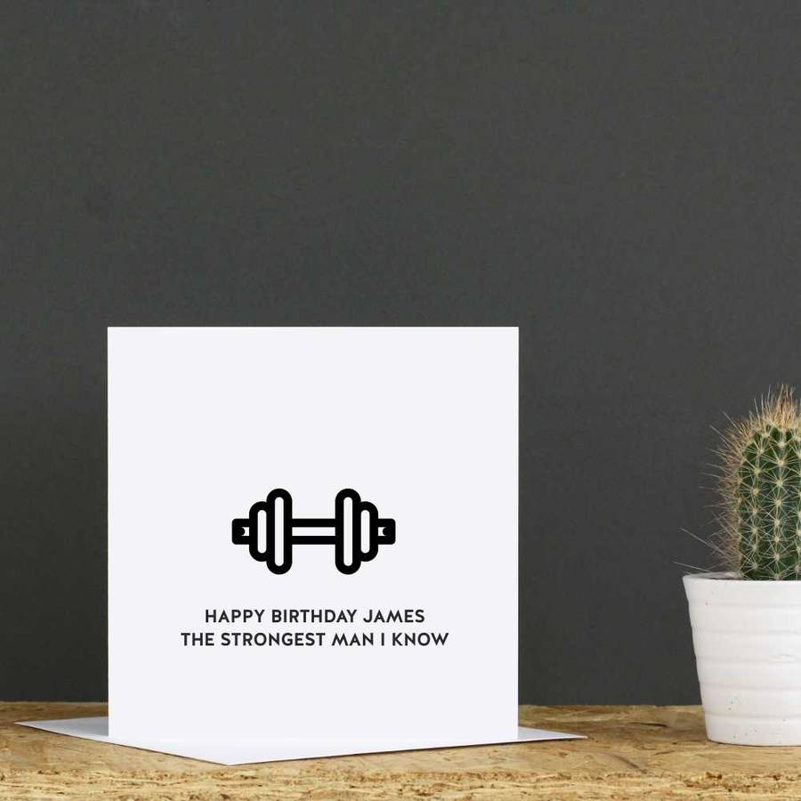 Personalised Gym Birthday Card By Jollysmith