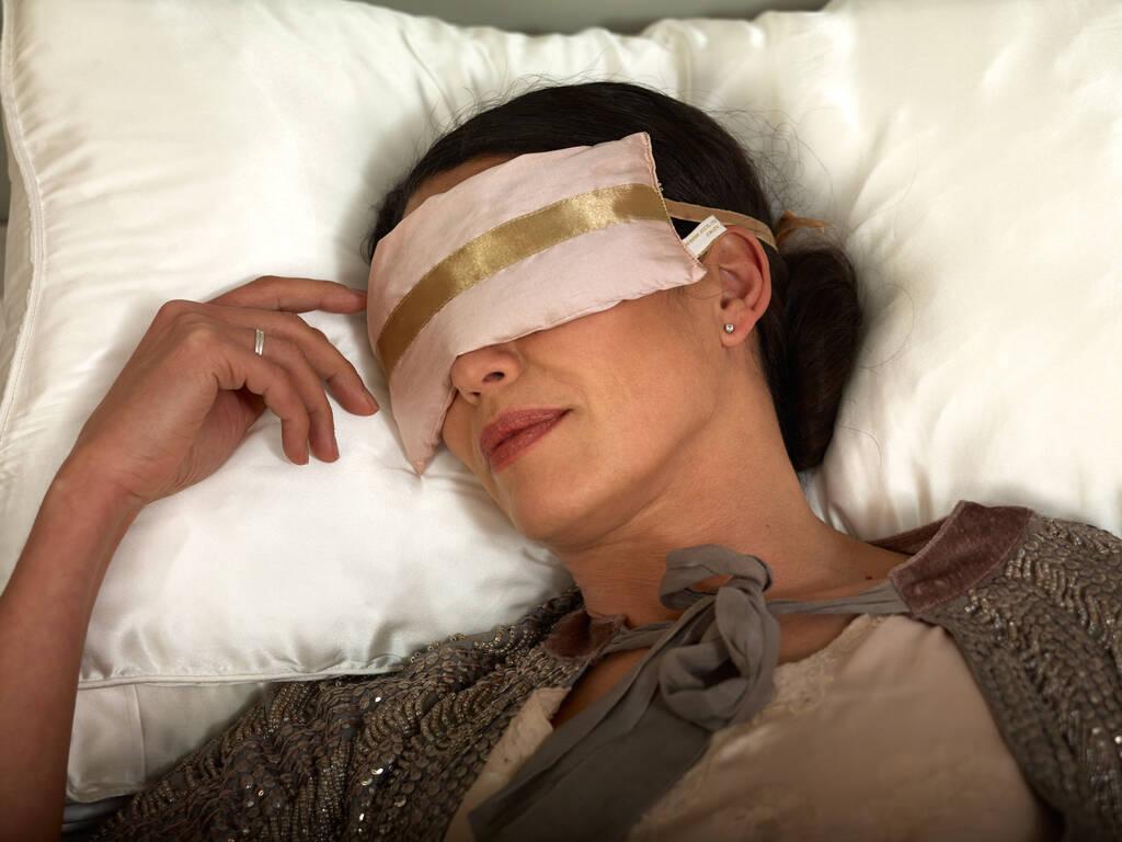 holistic silk lavender eye pillow