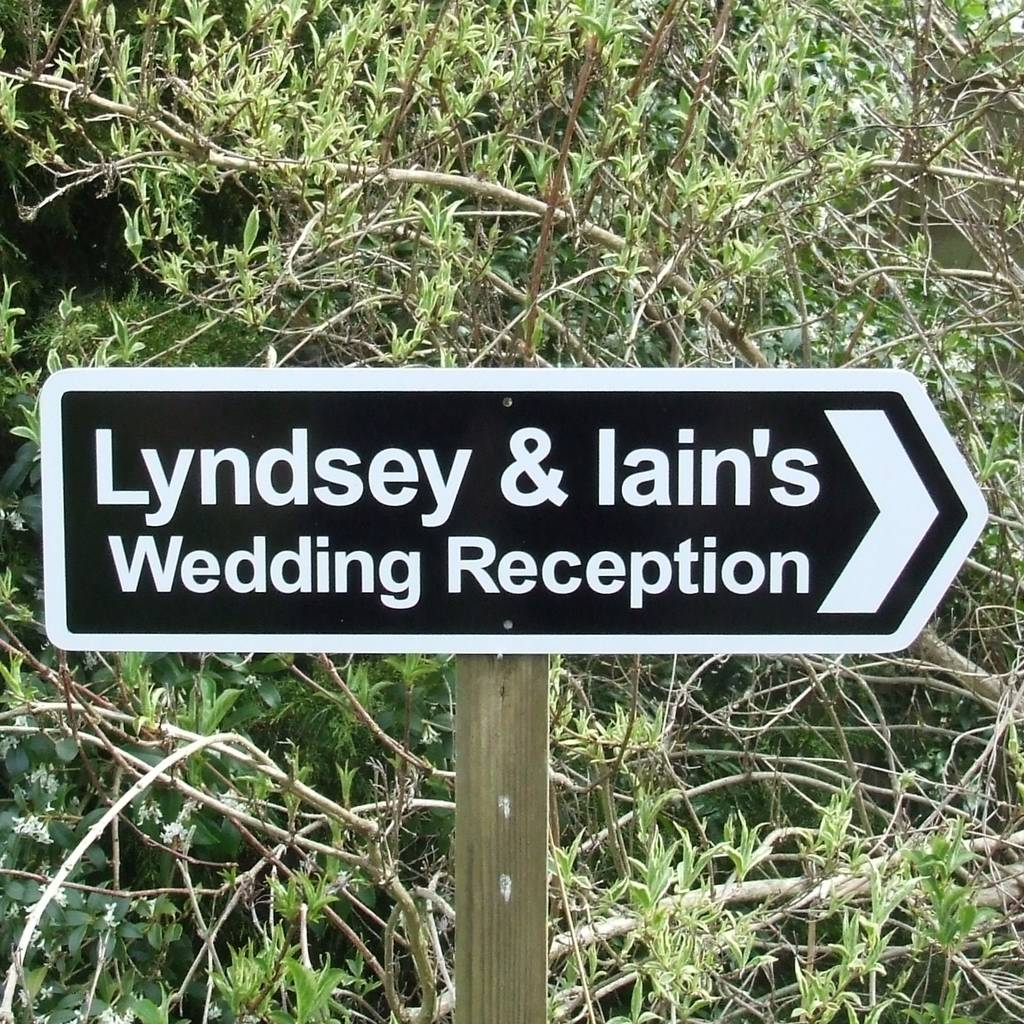 personalised wedding reception sign by england signs  notonthehighstreetcom