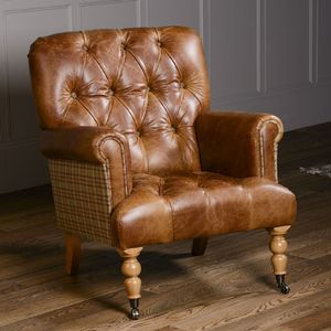 vintage arm chair rustic rocking chairs imperial buttoned armchair leather or tweed by the orchard furniture notonthehighstreet com