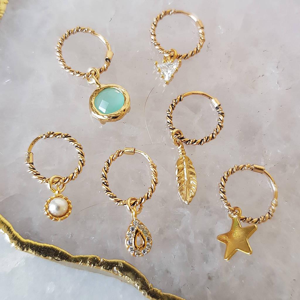 gold huggie hoop earrings by misskukie