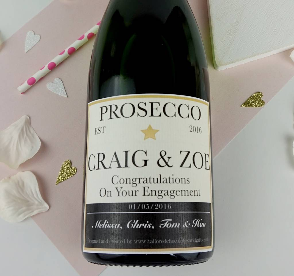 personalised champagne prosecco label