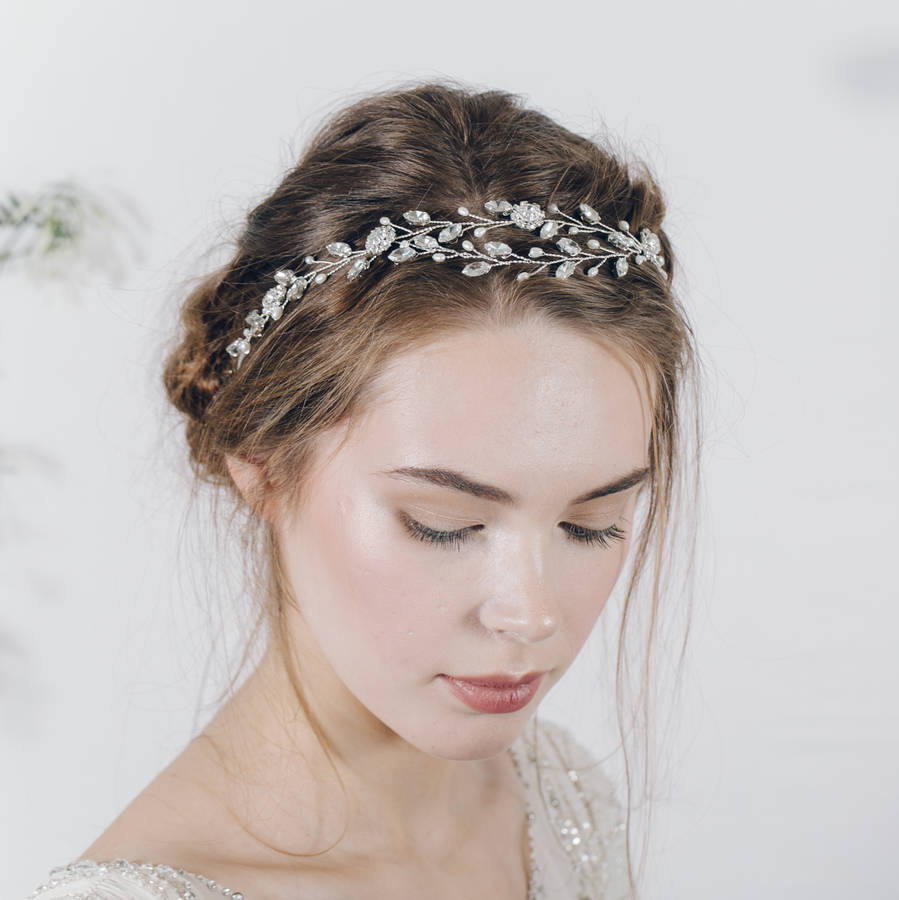 Bohemian Bridal Headband Or Wedding Browband Isadora By