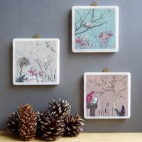 starry wren decorative marble tile wall art by ...