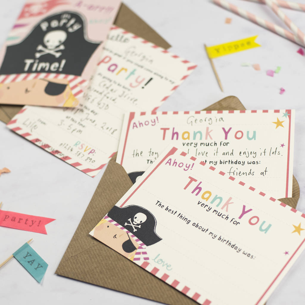 Here we got 11+ pirate birthday themed invitation card templates, which you can add your own personal touch freely as soon as you had finished the download process. Girls Pirate Birthday Party Invitations By Tandem Green Notonthehighstreet Com