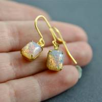 fire opal earrings by penny masquerade ...