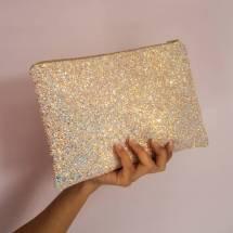 Sparkly Glitter Clutch Bag Suki Sabur Design