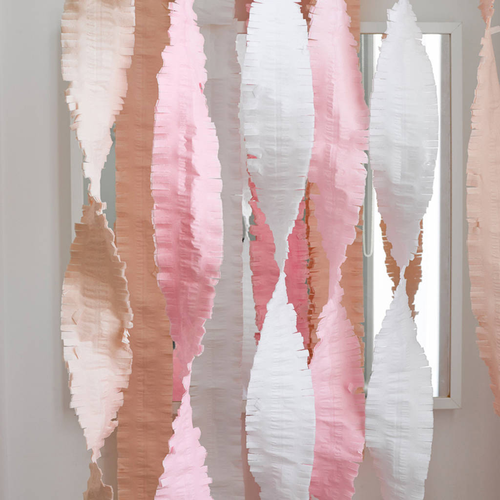 pastel oversized party streamers by postbox party