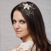 crystal star flower hair accessory