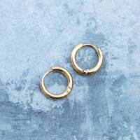 tiny thick hinged gold hoop earrings by regalrose ...