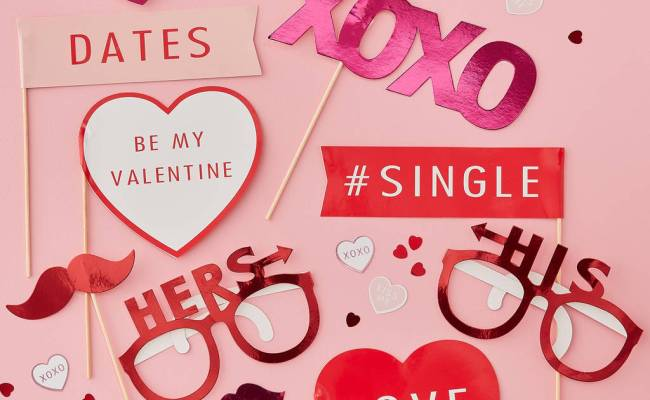 Valentines Themed Photobooth Props By Ginger Ray