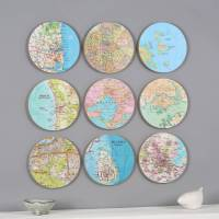 personalised map location 3d circle wall art by bombus ...