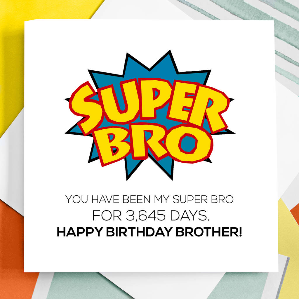 Personalised Super Brother Birthday Card By Rabal