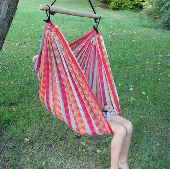 hanging chair notonthehighstreet folding covers ivory cuadro rainbow childrens by emilyhannah ltd