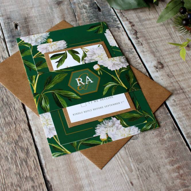 Irish Greenery Wedding Invitation Suite