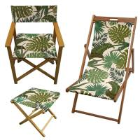 tropical palm print garden director chair by more by ...