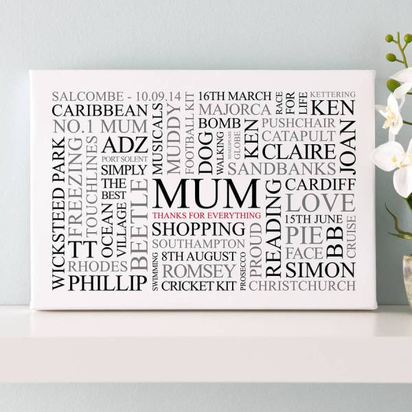 mum39s favourites word art print by cherry pete