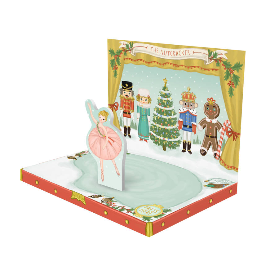 Nutcracker Music Box Christmas Card By My Design Co
