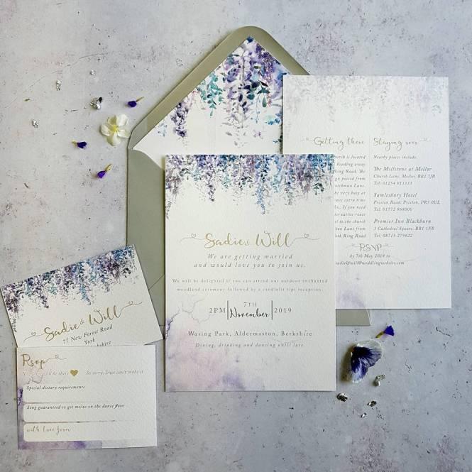 Whimsical Winter Wedding Invitation