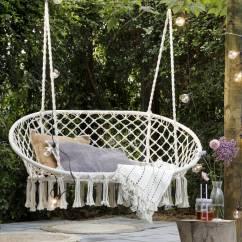 Hanging Chair Notonthehighstreet Weird Office Chairs Cream Macrame Double Garden Seat By Ella James