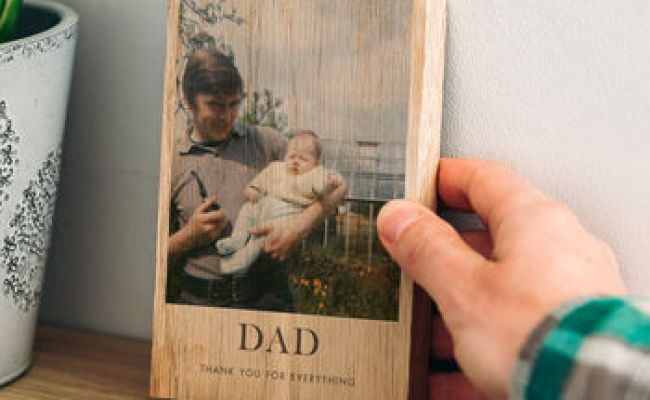 Personalised Thank You Gift For Dad Wood Block By The