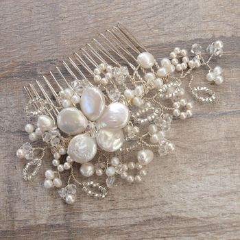 antique lace pearl bridal hair b by jewellery made by me notonthehighstreet