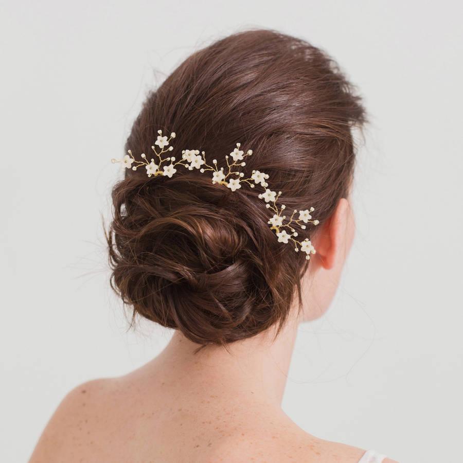 flower wedding hair pins by britten weddings