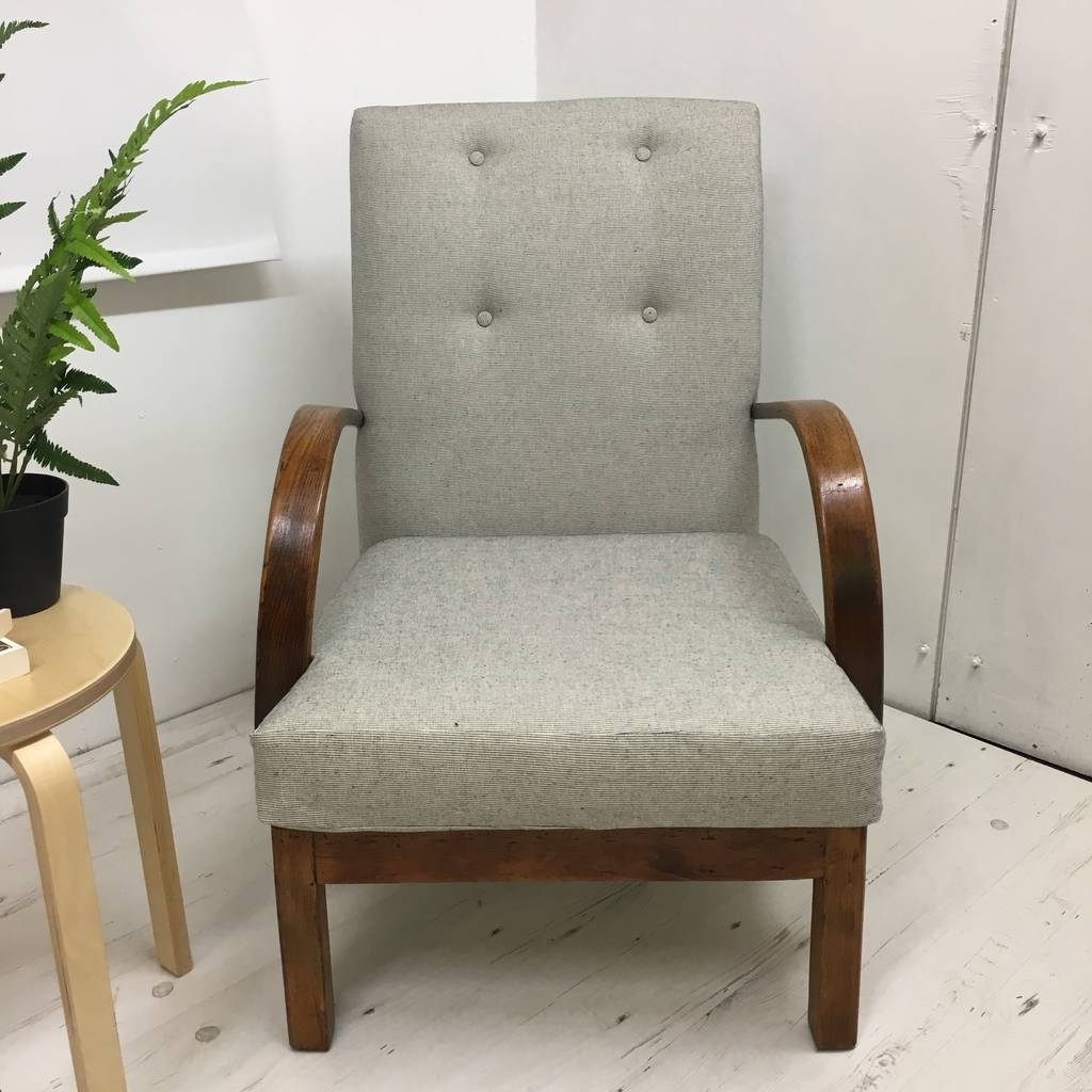Refurbished Chairs 1940s Utility Armchair Fully Refurbished