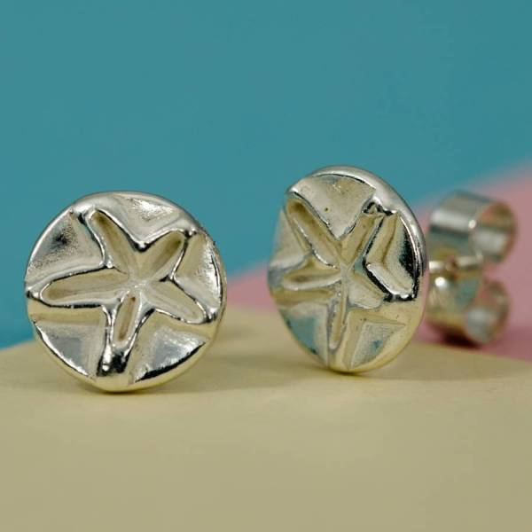 Silver Star Stud Earrings Ali Bali Jewellery