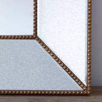 gold beaded vintage glass wall mirror by primrose & plum ...
