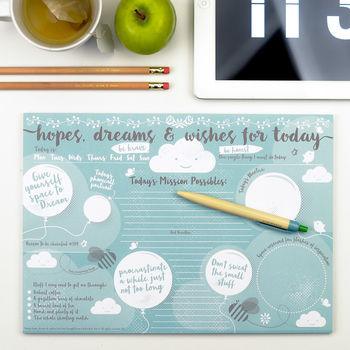 Hopes Dreams And Wishes Desk Jotter cheap gift ideas for teen girls