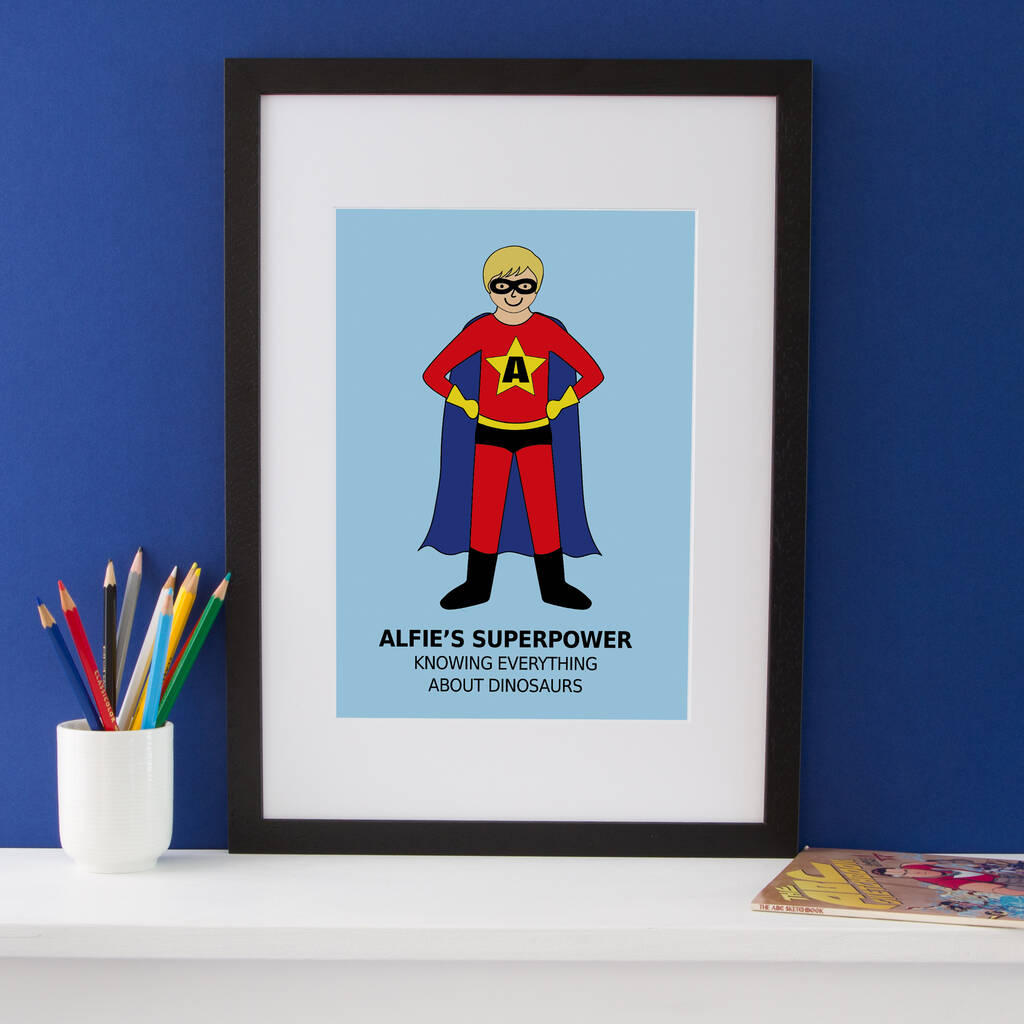 Design Your Own Superhero Personalised Portrait Print By