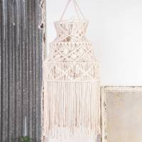 handmade macrame lampshade by ella james