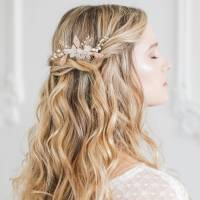 floral wedding hair comb by britten weddings ...