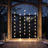 star christmas window curtain light by lights4fun