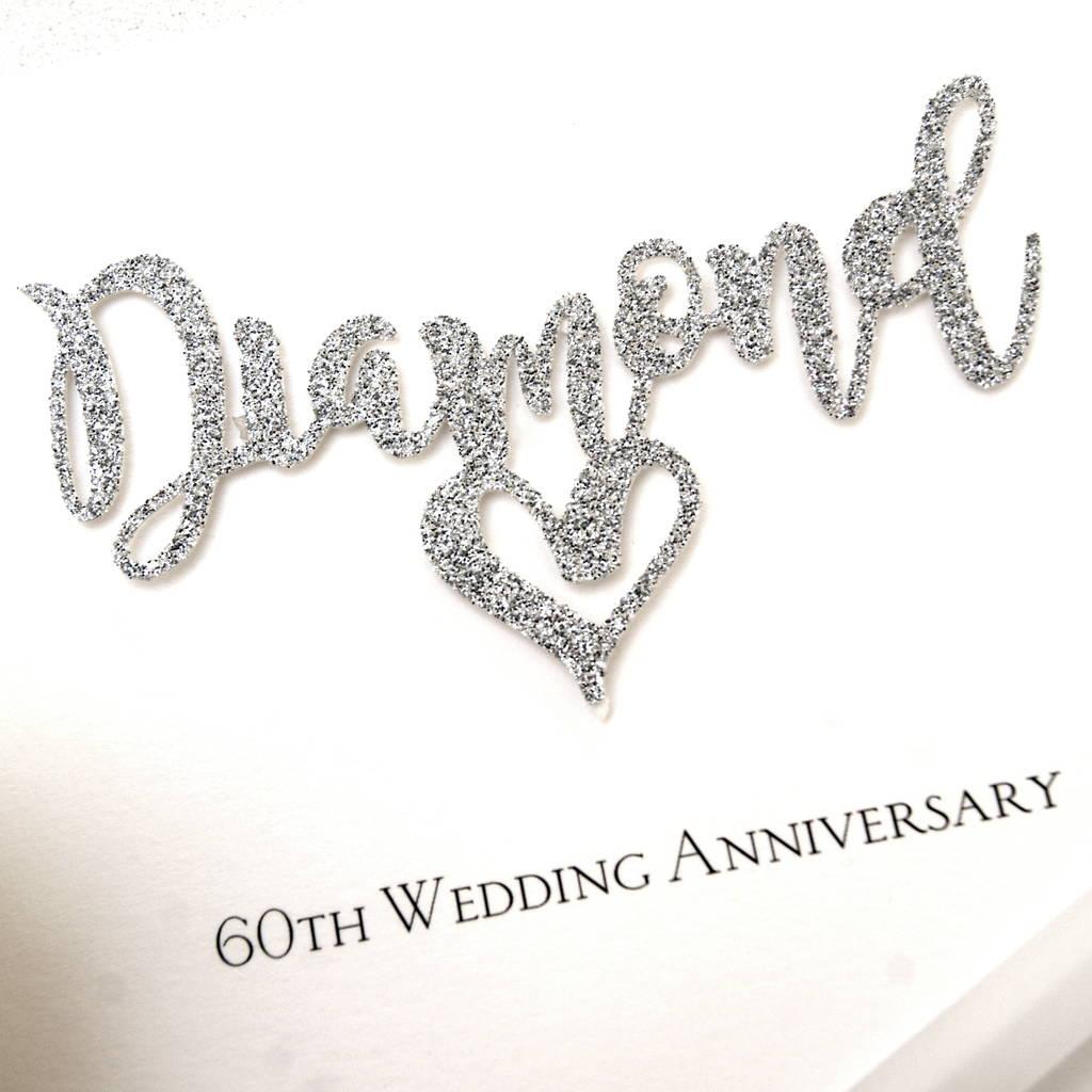 60th diamond wedding anniversary card by the hummingbird