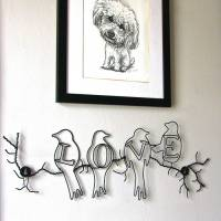 love birds wire wall art by london garden trading