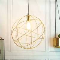 gold brass globe ceiling pendant light orb chandelier by ...