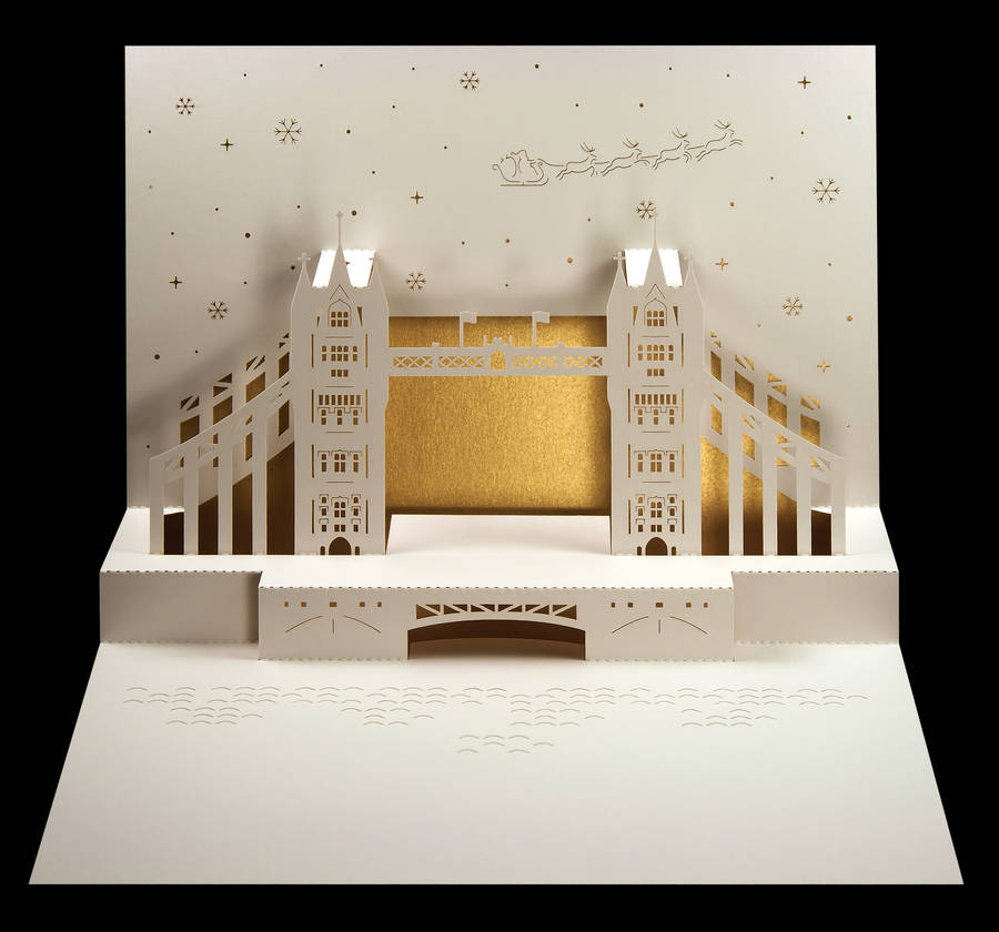 Tower Bridge Pop Up Christmas Card By Paper Tango