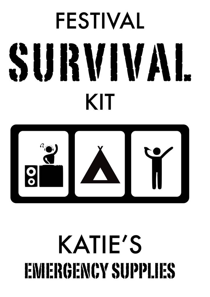 personalised festival survival kit bag by tailored