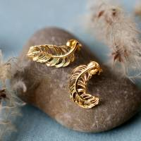 feather stud earrings by lily charmed | notonthehighstreet.com