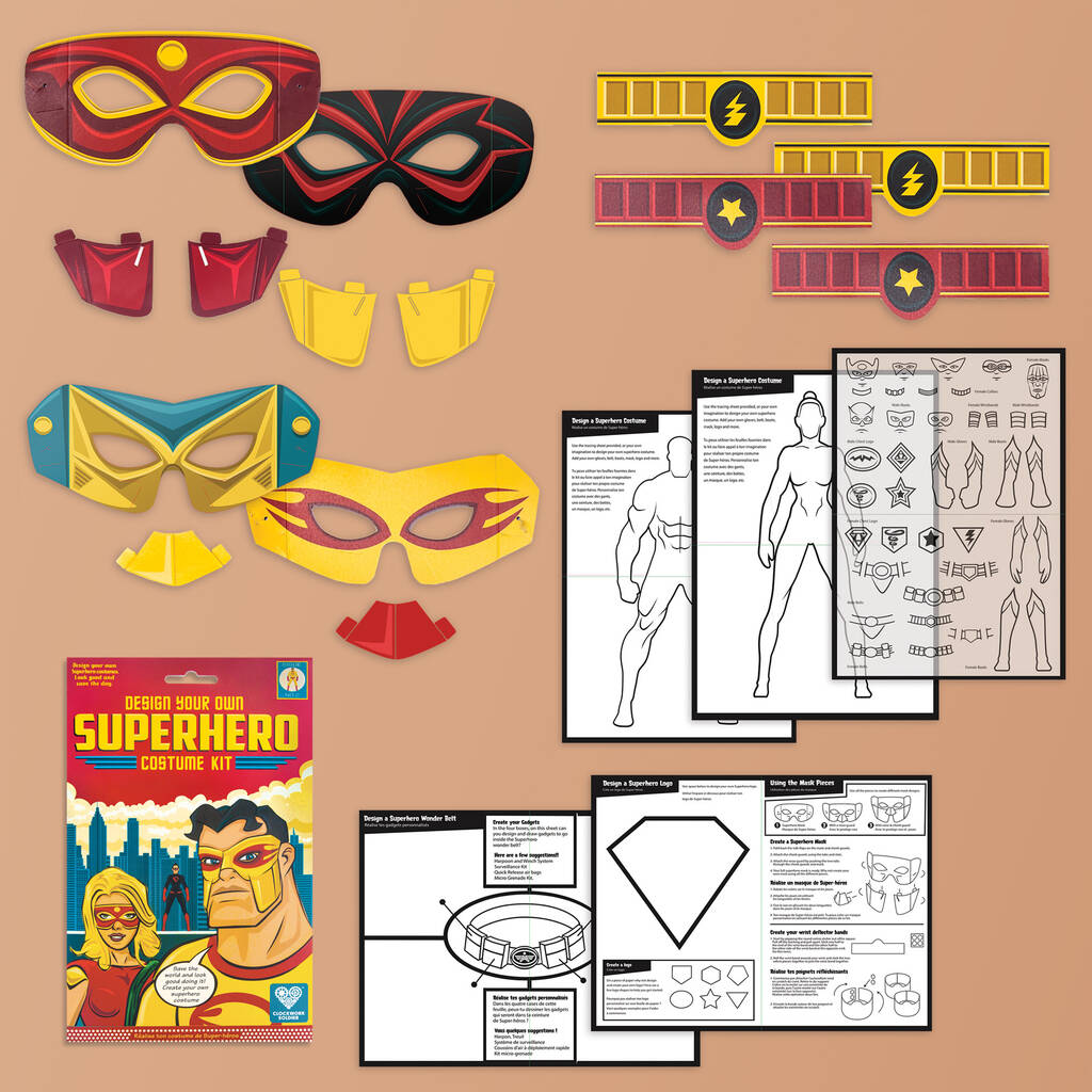 Make Your Own Superhero Masks And Costume Kit By Clockwork