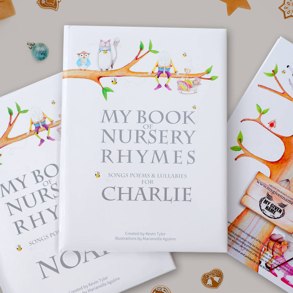 Deluxe Personalised Nursery Rhyme Book By My Given Name