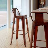 a copper industrial bar stool by cielshop ...