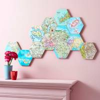 map location hexagon collectible wall art by bombus ...