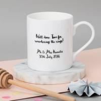 set of personalised wedding mugs by posh totty designs ...