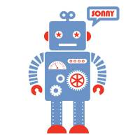 personalised robot wall sticker by koko kids ...